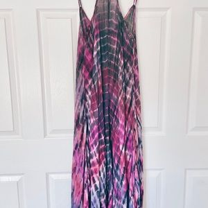 Lovestitch tie dye maxi dress , coverup